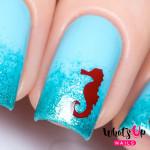 Whats Up Nails Трафарет Морской конек