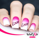 Whats Up Nails Трафарет Слова любви (Written With Love Stencils)
