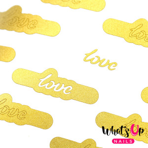 Whats Up Nails Written With Love Stencils
