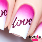Whats Up Nails Трафарет Слова любви